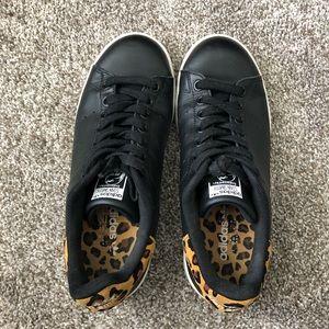 Adidas Stan Smith Black Animal Print Sneakers